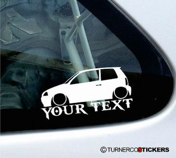 Custom Text / Name ,LOW Seat Arosa 6h2 Mk2 (facelift) sticker /Decal